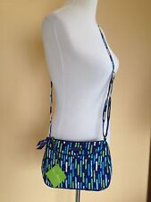 Vera Bradley Little Crossbody Bag Floral KATALINA SHOWERS Blue Striped Soldout