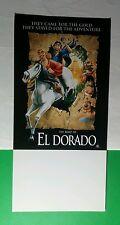 THE ROAD TO EL DORADO MOVIE COMIC CON SDCC 4x8.25 MINI POSTER POSTCARD FLYER