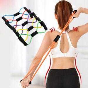 Elastic Resistance Bands Yoga Exercise Gym Pilates Stretch Straps