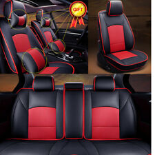 Car Seat Cover 5-Seats For Ford F-150 PU Leather Front Rear w/Pillow Cushion Set