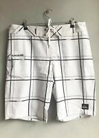 "Quiksilver Mens Electric 21"" BOARDSHORT Boardies Shorts Mens Size 32 - White"