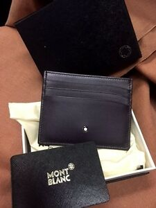 Montblanc Meisterstuck Sfumato Leather Credit Card Holder #114510 ~ New in Box