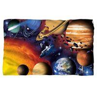 SOLAR SYSTEM Planets Space Shuttle Hubble Lightweight Polar Fleece Throw Blanket