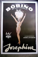 Original Vinatge Josephine Baker Color Lithograph Poster on Linen