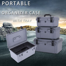 Waterproof Tool Case Equipment Storage Case Travel Fishing Repair Toolbox Tray