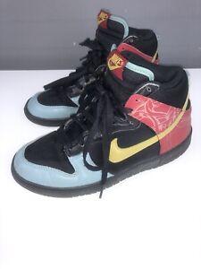 Mens Womens NikeDUNK HIGH PREMIUM 'MAJOR TAYLOR PACK' Vintage Red Black Blue 6