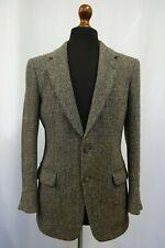 Homme Vintage Harris Tweed Veste Blazer 36L Sec Nettoyé