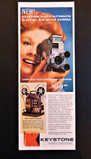 Vtg 1959 Keystone electric eye movie camera / projector advertisement print ad