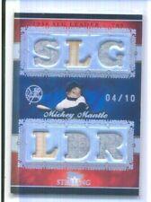 MICKEY MANTLE 2007 Topps Sterling Stardom 6 X JERSEY BAT CARD 04/10 YANKEES HOF