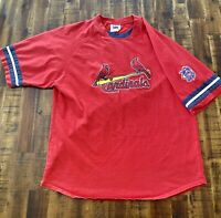 St. Louis Cardinals T-Shirt Red Blue Cards Lee Sports Vintage