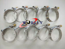 """10pcs 2.5"""" Inch 64mm ID Stainless Steel T-Bolt Silicone Hose Clamp 67-74mm"""