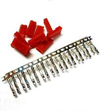 10 Rc Jst Bec Set Conector Macho Plug Estaño Plateado 2 Pin