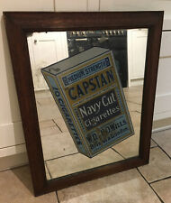 VINTAGE WILLS CAPSTAN Navy Cut Cigarettes Pub Advertising Mirror RARE