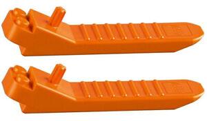 2 x LEGO Brick and Axle Separator 96874 Orange