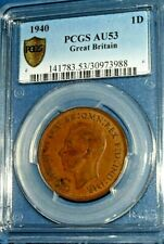 1940 1D (ONE PENNY) Great Britain-Circulated-PCGS AU 53--C12414-2