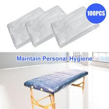 100PCS Disposable Beauty Bed Sheet Plastic Massage SPA Salon Table Cover 90*180