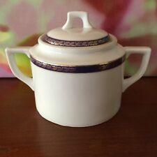Wien~Vienna Porcelain Cube Sugar Lidded Bowl // Vintage // Marked & Numbered
