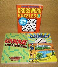 JUMBO Crossword | x3 1990's CROSSWORDS ~1,000 Games Unique