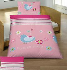 Baby Bettwäsche 100x135 cm Kleiner Spatz Vogel Baumwolle LINON B Ware