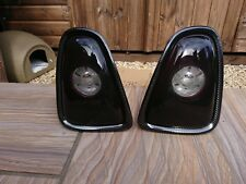 BMW MINI R56 R57 Smoked  Hi-Gloss Rear Lights with Carbon Fibe Rings