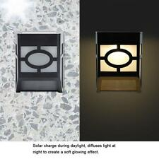 4Pcs LED Energía Solar Luz de Pared Impermeable Lámpara Jardín Exterior Camino