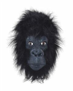 New Gorilla Head Masks Black with Hair   One size Unisex Costume Mask Event