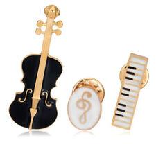 Cute Enamel Music Symbol Brooches Unisex Musical Instrument Mini Three-Piece Set