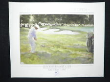 Masters Champion Ben Hogan Signed Golf Lithograph JSA