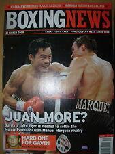 BOXING NEWS 21 MARCH 2008 MANNY PACQUIAO DEFEATS JUAN MANUEL MARQUEZ