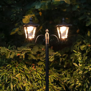 2.1m Solar Power Outdoor Security LED Lamp Post Light | Traditional Driveway
