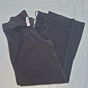 Victoria's Secret Plush & Lush Black Lounge Terry cloth drawstring Pants Small