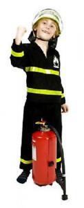 Feuerwehrmann Feuerwehr Anzug Kinder Kostüm Uniform Helm Feuerwehrhelm Junge