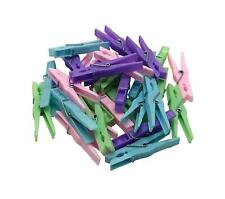 30Pc Classic Coloured Plastic Pegs Laundry Clothes Washing Line Household