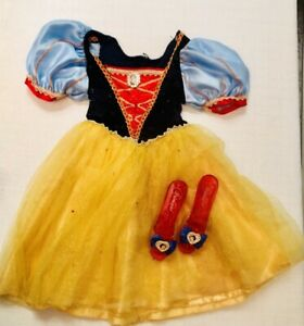Disney Princess Snow White costume- girls size 4-5- With Shoes- Excellent Cond.
