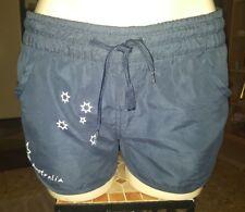 WOMENS Sz M blue white & red AUSTRALIA FLAG mini shorts LOVELY! ELASTIC WAIST!