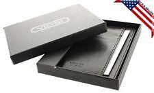 Mens Leather Minimalist Wallet Card Case Thin Slim Organizer Front Pocket Wallet