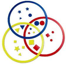 """Magnetic Sorting Circles 10"""" Diameter, Set of 111 school attributes Venn Diagram"""