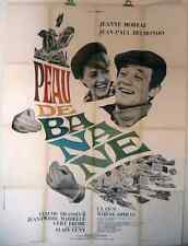 AFFICHE CINEMA film movie Peau de banane - BELMONDO / BRASSEUR / MOREAU 120x160