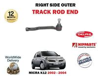 FOR NISSAN MICRA K12 2002-2004 NEW RIGHT RH OUTER STEERING TRACK RACK ROD END