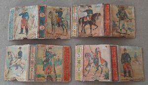 4 coupons - chromos - Boites d'allumettes françaises 1885-1889 (1)