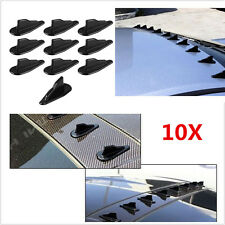 Universal 10pcs finished shark fins Wing Vortex Generator Black for EVO Style