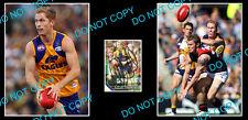 ADAM SELWOOD WEST COAST EAGLES SIGNED CARD +2 PHOTOS