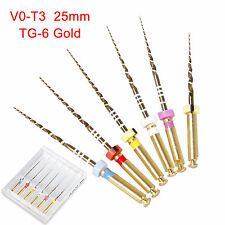6pcs dentale Endo NiTi TG Files 25mm Root Canal File TG-6 Gold LZ SALE