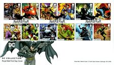 More details for 2021 gb dc comics collection stamps leicester  *nice* first day cover 17.09.21