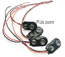 Battery Clip Connector 9v with 2 Bare Wire Connections Electronics DIY x 4pcs