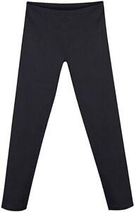 Hanes Girls' Cotton Stretch Leggings, Black, Large