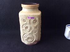 "Vintage W. Germany Scheurich ""Jura"" Vase with fossil pattern (282-16) 60s"