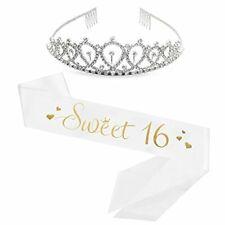 Sweet 16 Sash & Rhinestone Tiara Birthday Sash Birthday Gifts For Girl Sash NEW
