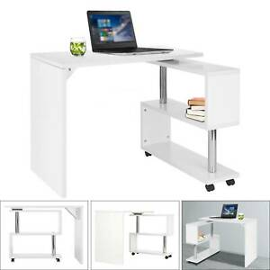 Home Office Study S-Shaped 360° Corner Compact Desk Computer Laptop Table