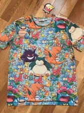 MENS UNISEX POKEMON OFFICIAL LICENSED NINTENDO T-SHIRT PRIMARK SIZE S